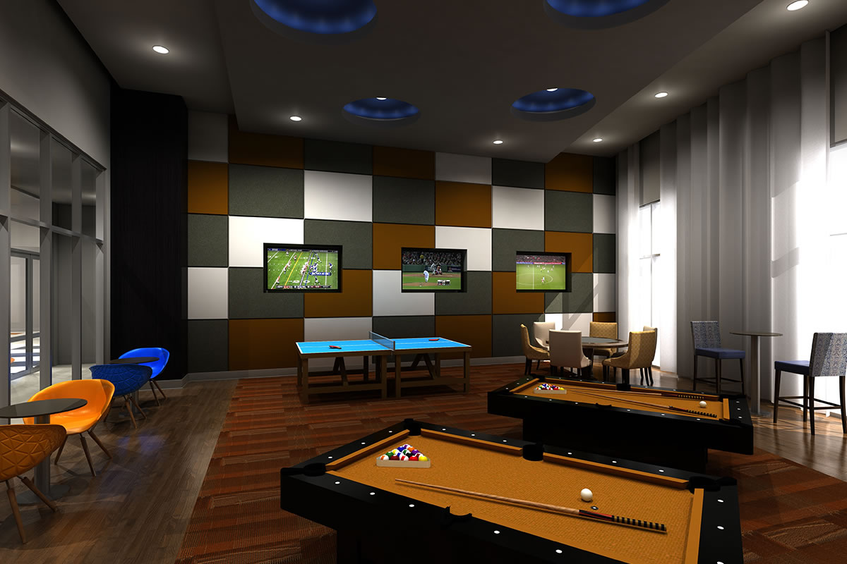 Gameroom at Listing #235596