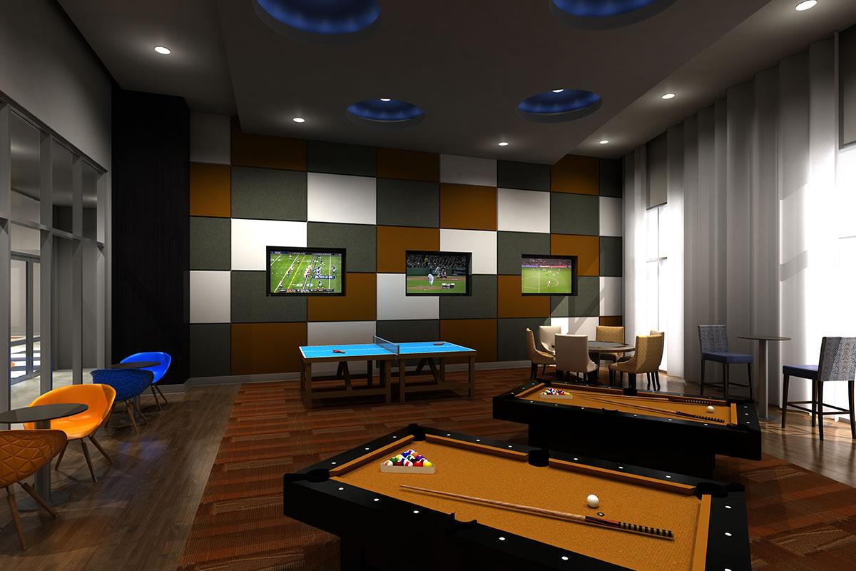 Gameroom at Listing #235596