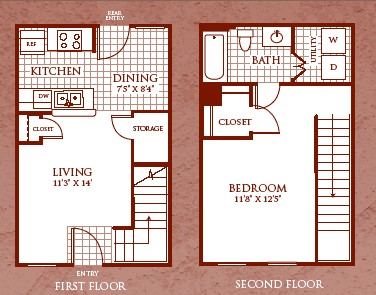 653 sq. ft. A1/60 floor plan