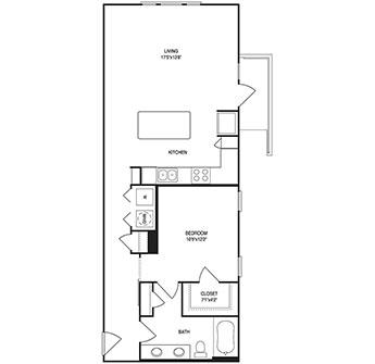 846 sq. ft. floor plan