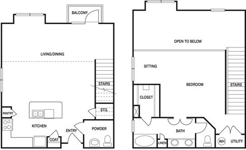 1,226 sq. ft. S1B floor plan