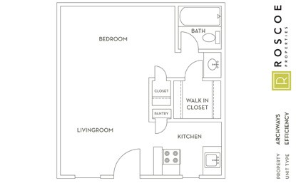 378 sq. ft. E1 floor plan