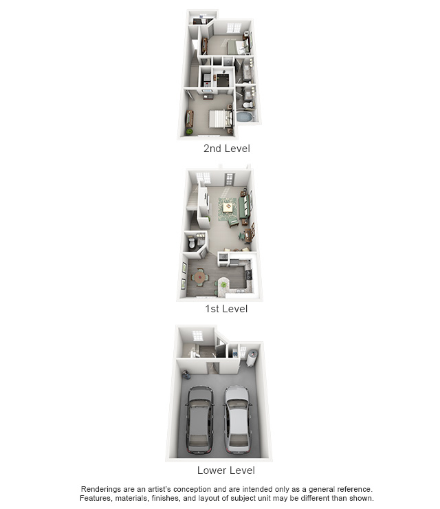 1,372 sq. ft. Oasis floor plan