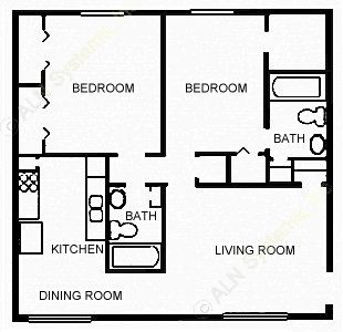 879 sq. ft. TRADITNL floor plan