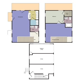 1,240 sq. ft. Bella floor plan
