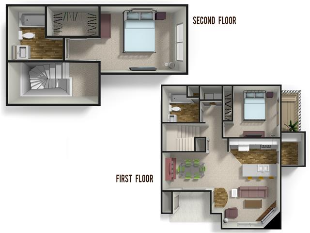 1,211 sq. ft. MAGNOLIA floor plan