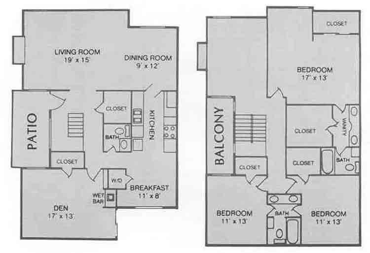 2,200 sq. ft. E floor plan