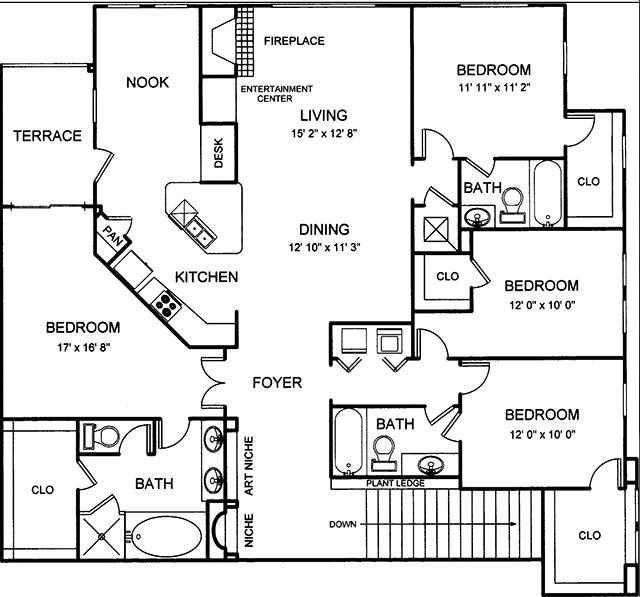 1,938 sq. ft. floor plan