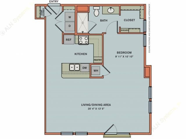 823 sq. ft. 3S7.1 floor plan