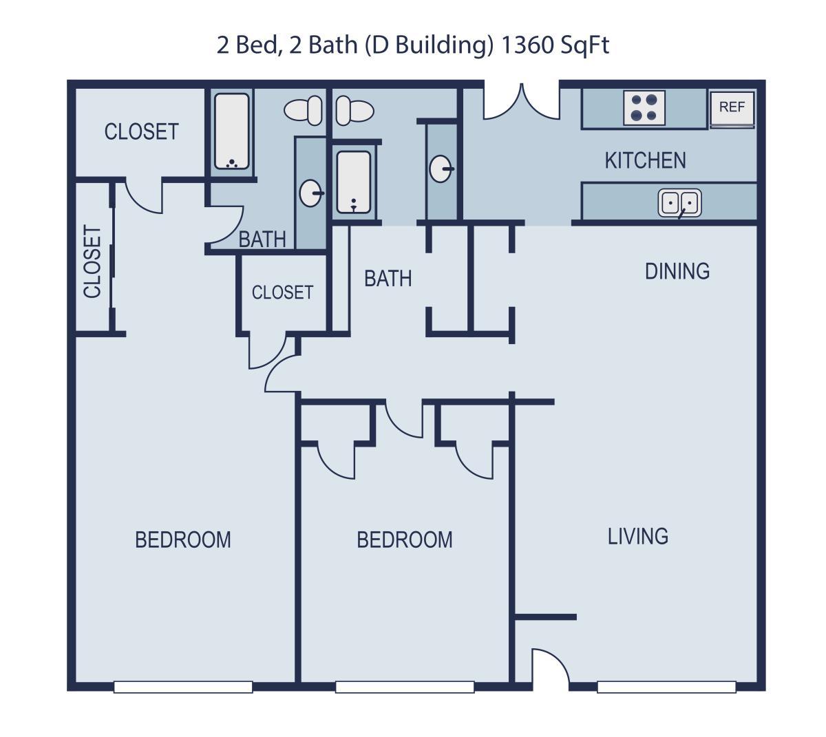 1,360 sq. ft. Sinatra floor plan
