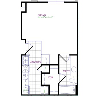 489 sq. ft. floor plan