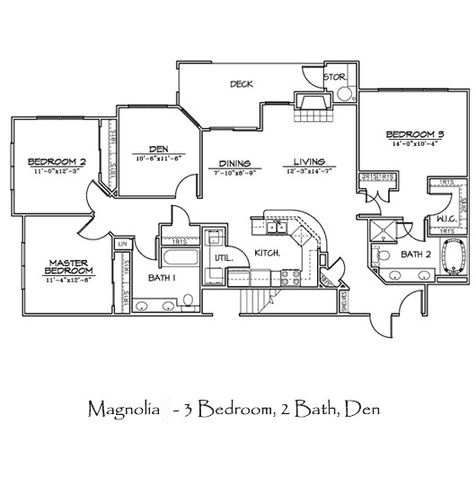 1,532 sq. ft. MAGNOLIA floor plan