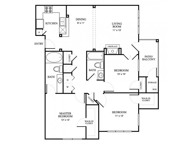 1,230 sq. ft. Mansion floor plan