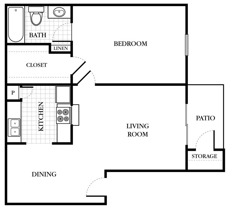 604 sq. ft. Ashton floor plan