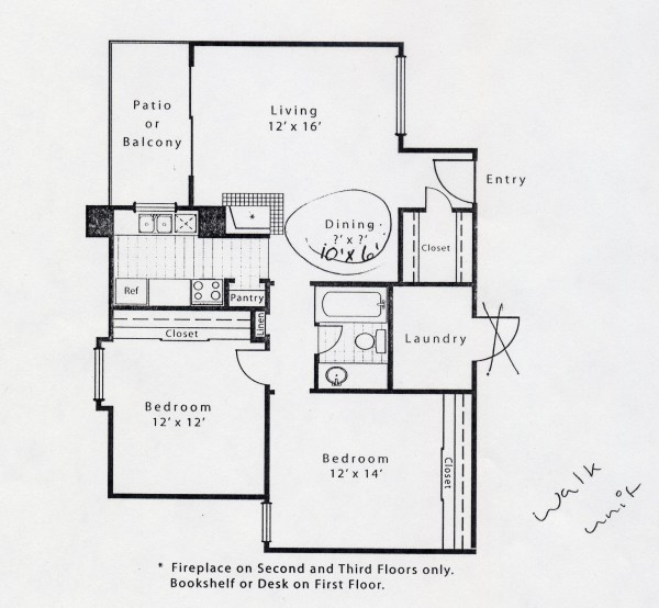 837 sq. ft. B1A floor plan
