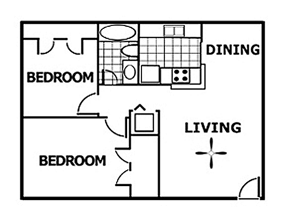 787 sq. ft. floor plan