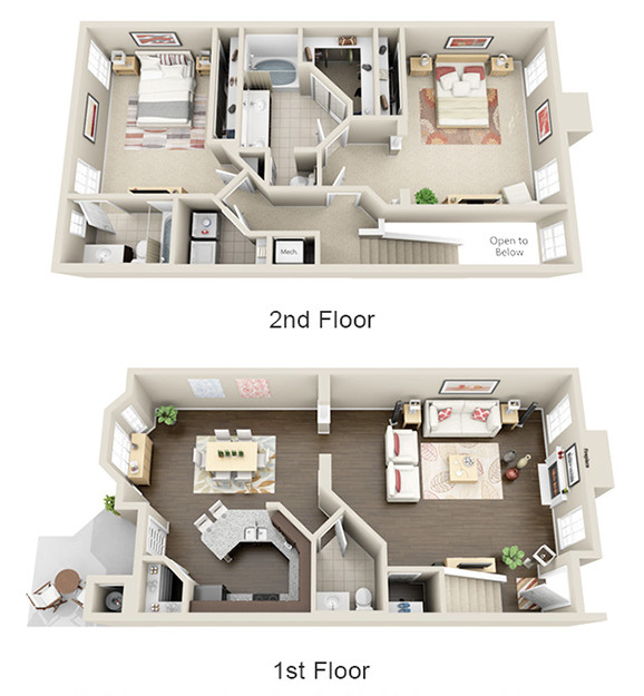 1,720 sq. ft. B2 floor plan