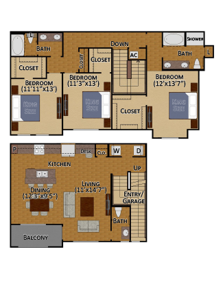 1,780 sq. ft. C2 floor plan