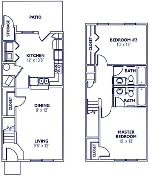 911 sq. ft. 60% floor plan