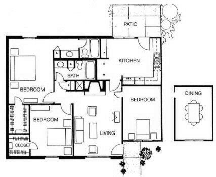 1,270 sq. ft. Belize floor plan