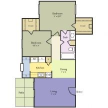 846 sq. ft. Lilac floor plan