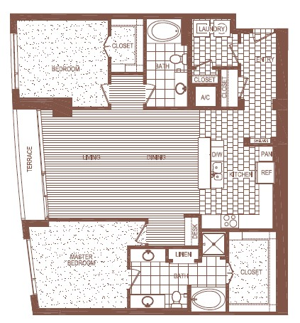 1,617 sq. ft. J floor plan