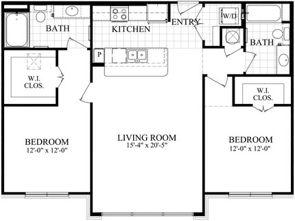 1,146 sq. ft. CA floor plan