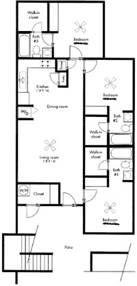 1,200 sq. ft. The Everest floor plan