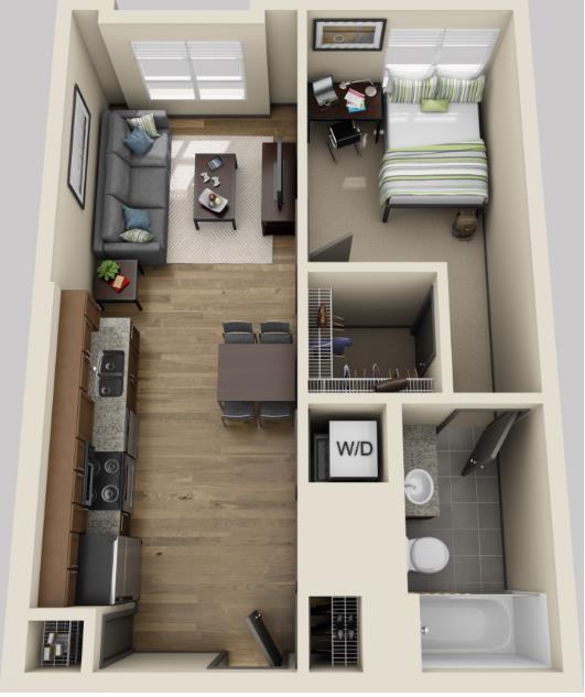 553 sq. ft. floor plan