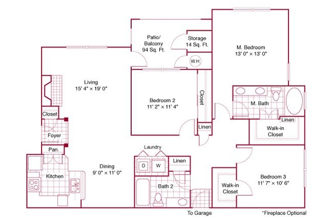 1,415 sq. ft. C21 floor plan