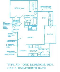 952 sq. ft. AD02 floor plan