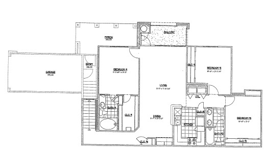 1,239 sq. ft. G4/60% floor plan