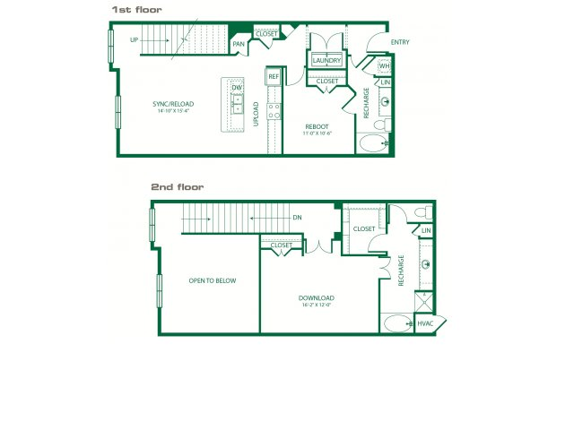 1,430 sq. ft. L2A Signal floor plan