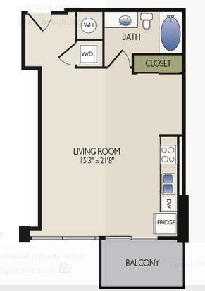 672 sq. ft. C4 floor plan