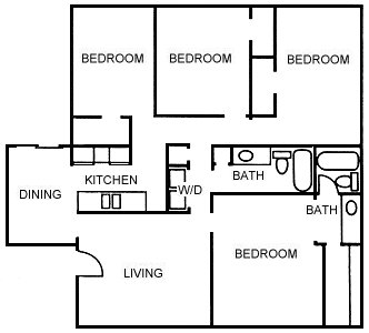 1,646 sq. ft. D floor plan
