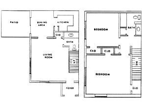 1,192 sq. ft. floor plan