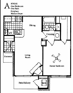 630 sq. ft. Fawn floor plan