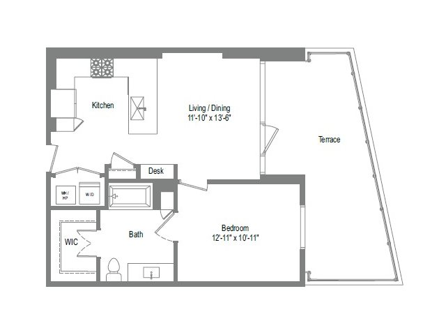 702 sq. ft. A2B floor plan