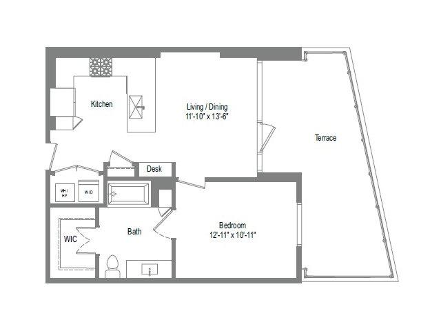702 sq. ft. A2B floor plan