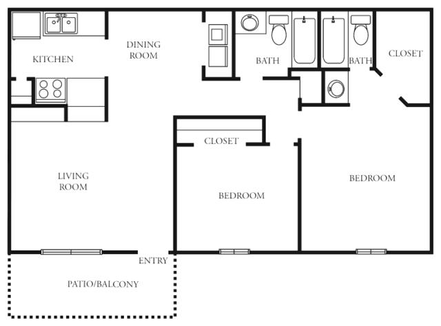 966 sq. ft. to 991 sq. ft. G floor plan