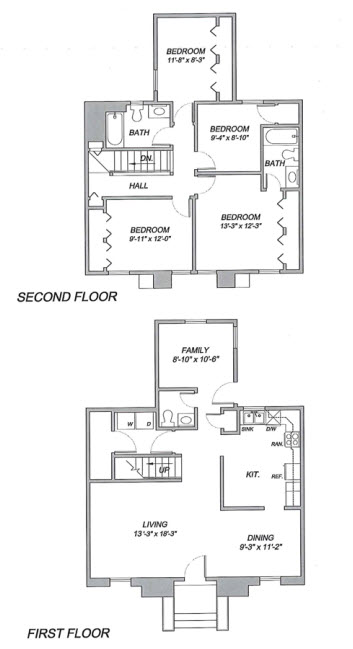 1,524 sq. ft. to 1,830 sq. ft. floor plan