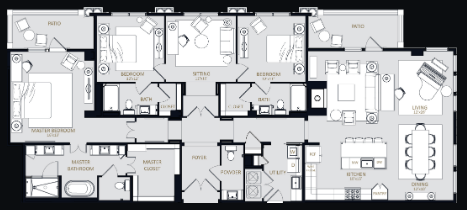 2,528 sq. ft. PH4 floor plan