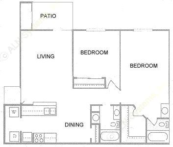 922 sq. ft. floor plan