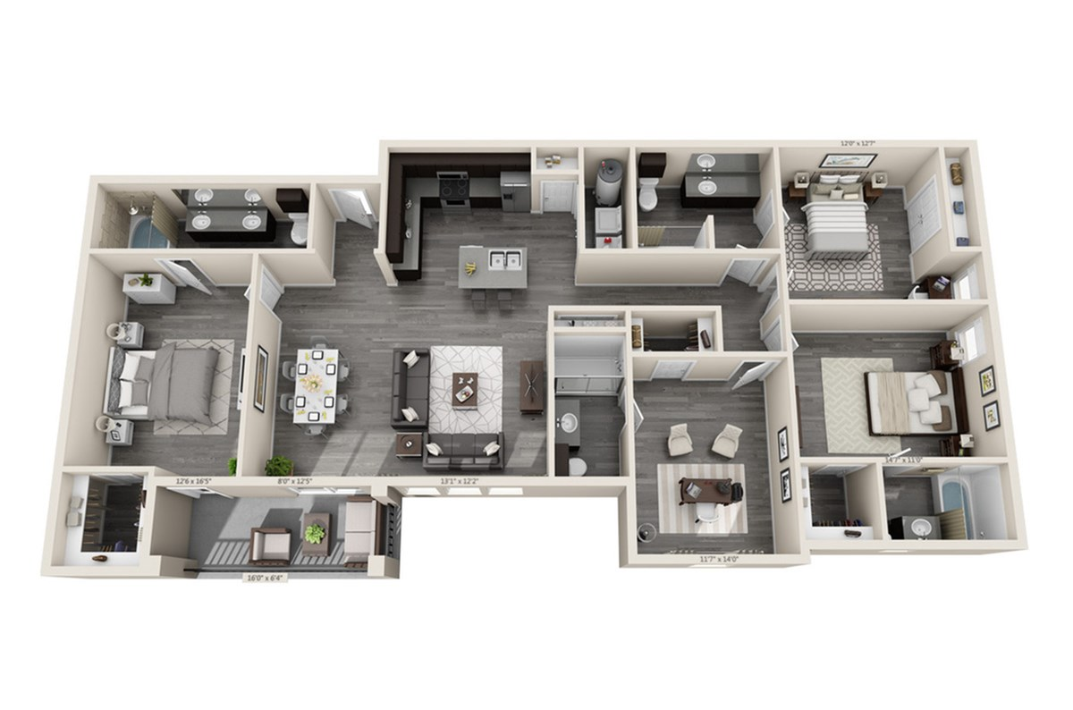 1,743 sq. ft. Windsong floor plan