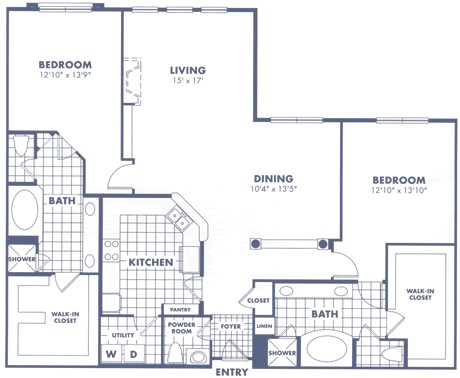 1,876 sq. ft. B4 floor plan