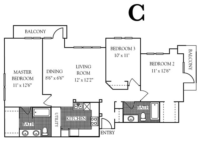 1,133 sq. ft. to 1,400 sq. ft. 30% floor plan