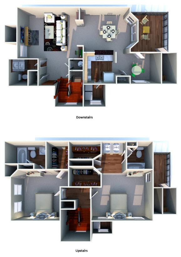 1,550 sq. ft. I floor plan