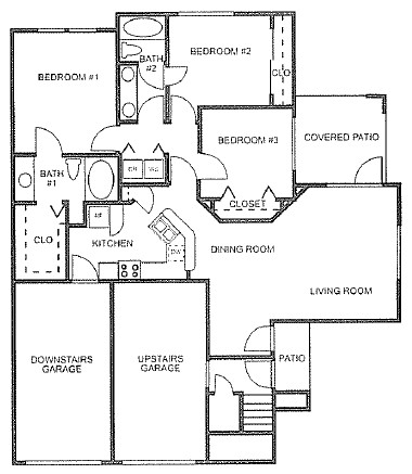 1,180 sq. ft. to 1,189 sq. ft. floor plan