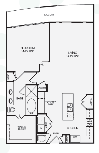 1,064 sq. ft. Madras/A14 floor plan
