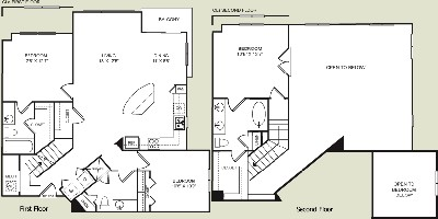 1,490 sq. ft. CL floor plan